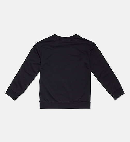CALVIN KLEIN Accent Stripe Boys Sweatshirt - BLACK - CALVIN KLEIN GIRLS - detail image 1