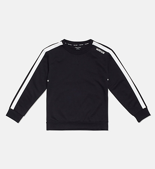 CALVIN KLEIN Accent Stripe Boys Sweatshirt - BLACK - CALVIN KLEIN GIRLS - main image
