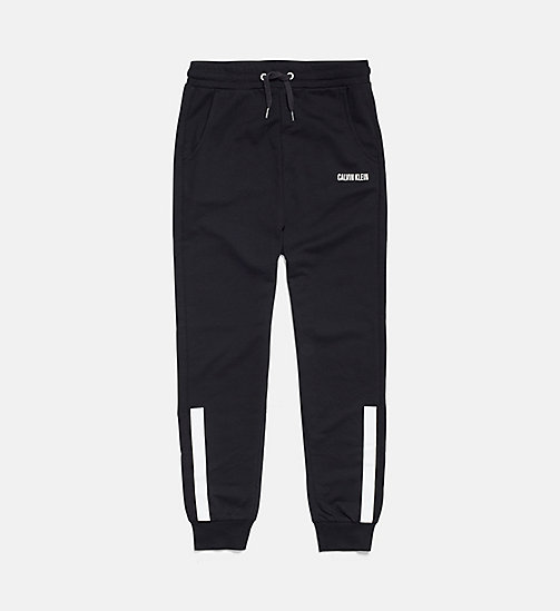 CALVIN KLEIN Accent Stripe Boys Joggers - BLACK - CALVIN KLEIN GIRLS - main image