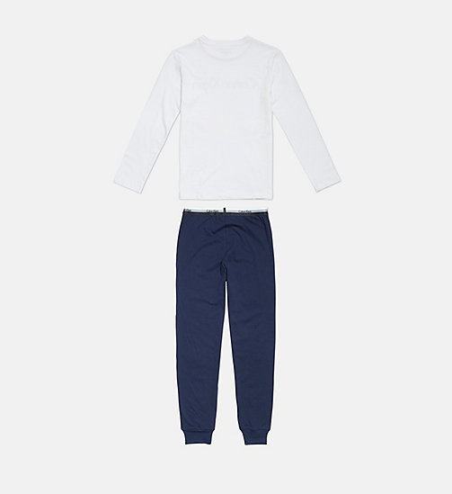 CALVINKLEIN Boys PJ Set - CK Graphic - 1WHITE/1BLUESHADOW - CALVIN KLEIN BOYS - detail image 1