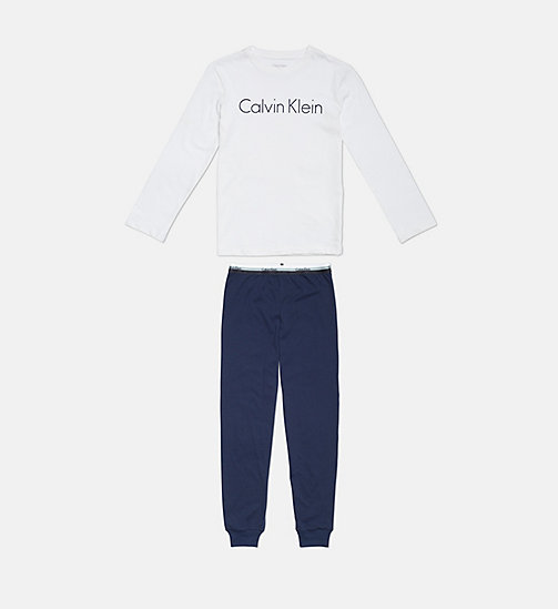 CALVINKLEIN Boys PJ Set - CK Graphic - 1WHITE/1BLUESHADOW - CALVIN KLEIN KIDS - main image