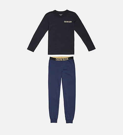 CALVIN KLEIN Boys PJ Set - Intense Power - 1 BLACK/ 1 BLUE SHADOW - CALVIN KLEIN BOYS - main image