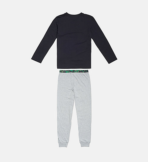 CALVIN KLEIN Boys PJ Set - CK Graphic - 1BLACK/1GREYHEATHER -  BOYS - detail image 1