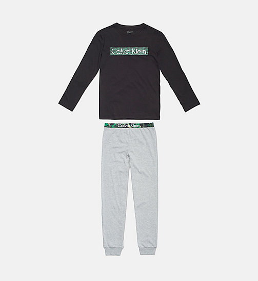 CALVIN KLEIN Boys PJ Set - CK Graphic - 1 BLACK / 1 GREY HEATHER - CALVIN KLEIN BOYS - main image