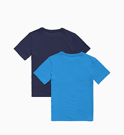 CALVIN KLEIN 2 Pack Boys T -shirts - Intense Power - 1CLOISONNE/1BLUESHADOW - CALVIN KLEIN BOYS - detail image 1