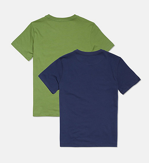 CALVIN KLEIN 2 Pack Boys T-shirts - Modern Cotton - 1BLUESHADOW/1KALE - CALVIN KLEIN BOYS - detail image 1