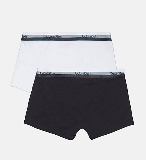 CALVINKLEIN 2 Pack Boys Trunks - CK Graphic - 1 BLACK/ 1 WHITE - CALVIN KLEIN BOYS - detail image 1