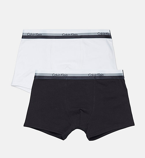 CALVIN KLEIN 2 Pack Boys Trunks - CK Graphic - 1 BLACK/ 1 WHITE - CALVIN KLEIN BOYS - main image