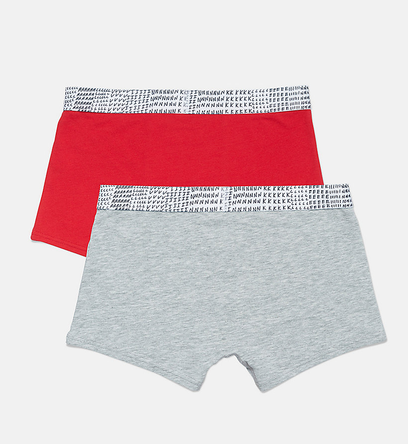 CALVINKLEIN 2 Pack Boys Trunks - CK Graphic - 1 GREY HEATHER/ 1 BLUE SHADOW - CALVIN KLEIN UNDERWEAR - detail image 1