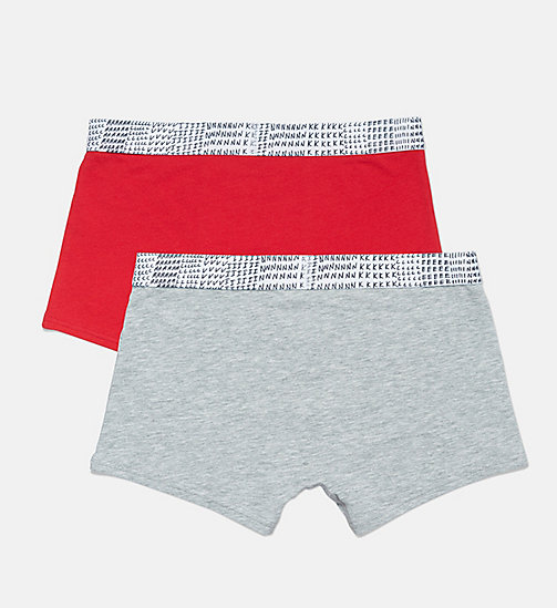 CALVIN KLEIN 2 Pack Boys Trunks - CK Graphic - 1SKIPATROL / 1GREYHEATHER -  BOYS - detail image 1