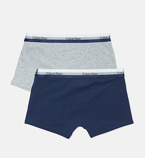 CALVIN KLEIN 2 Pack Boys Trunks - CK Graphic - 1 GREY HEATHER / 1 BLUE SHADOW - CALVIN KLEIN BOYS - detail image 1