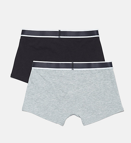 CALVIN KLEIN 2 Pack Boys Trunks - CK Graphic - 1 GREY HEATHER/ 1 BLACK - CALVIN KLEIN BOYS - detail image 1