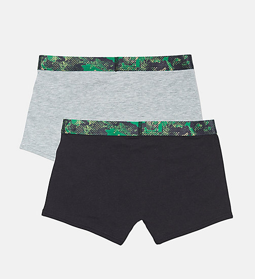 CALVINKLEIN 2 Pack Boys Trunks - CK Graphic - 1GREYHEATHER/1BLACK - CALVIN KLEIN BOYS - detail image 1