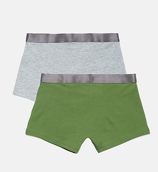 CALVIN KLEIN 2er-Pack Jungen-Shorts - Customized Stretch - 1GREYHEATHER/1KALE - CALVIN KLEIN JUNGEN - main image 1