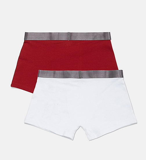 CALVIN KLEIN 2 Pack Boys Trunks - Customized Stretch - 1WHITE/1REDDAHLIA - CALVIN KLEIN BOYS - detail image 1
