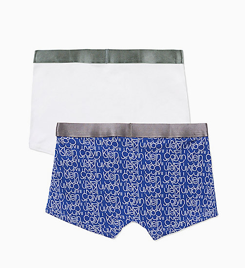 CALVIN KLEIN 2 Pack Boys Trunks - Customized Stretch - 1SLICEDSODALITEBLUE/1WHITE - CALVIN KLEIN BOYS - detail image 1