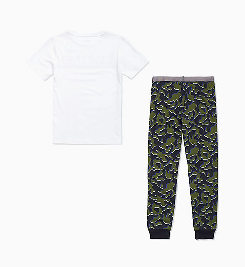 CALVIN KLEIN Boys PJ Set - Customized Stretch - 1WHITE/1CAMOBLACK - CALVIN KLEIN BOYS - detail image 1