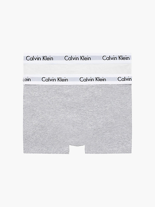 CALVIN KLEIN 2 Pack Boys Trunks - Modern Cotton - WHITE/GREY HTR - CALVIN KLEIN BOYS - detail image 1