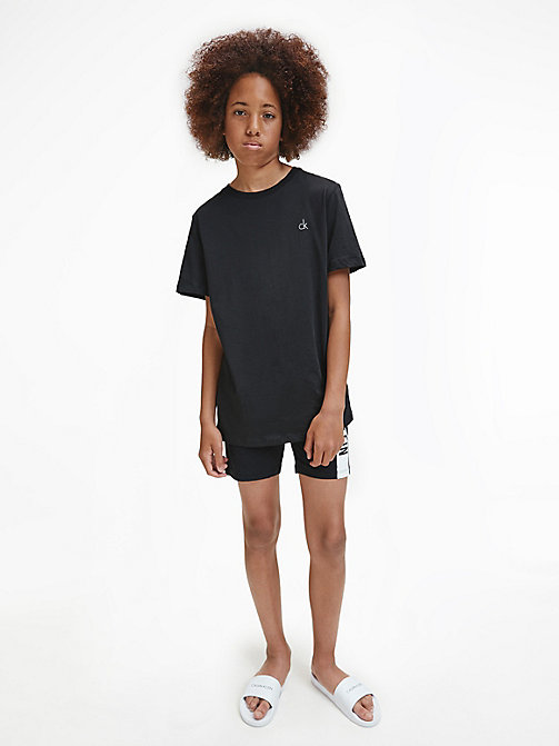 CALVINKLEIN 2 Pack Boys T-shirt - Modern Cotton - BLACK/ WHITE - CALVIN KLEIN PYJAMAS - main image