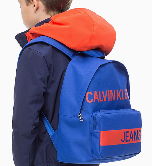 CALVIN KLEIN JEANS Logo Backpack - NAUTICAL BLUE - CALVIN KLEIN JEANS BAGS & ACCESSORIES - detail image 1