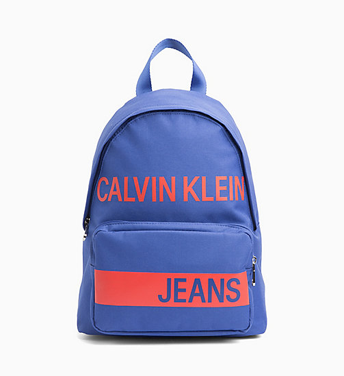 CALVIN KLEIN JEANS Logo Backpack - NAUTICAL BLUE - CALVIN KLEIN JEANS BAGS & ACCESSORIES - main image