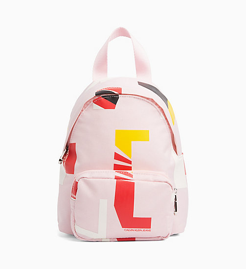 CALVIN KLEIN JEANS Logo Backpack - PEACHY KEEN - CALVIN KLEIN JEANS BAGS & ACCESSORIES - main image