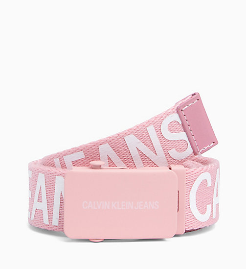 CALVIN KLEIN JEANS Canvas Plaque Belt - PEACHY KEEN - CALVIN KLEIN JEANS BAGS & ACCESSORIES - main image