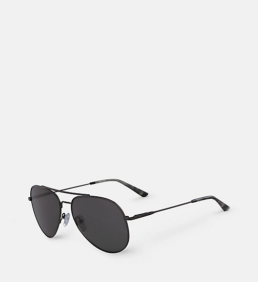 CALVINKLEIN Aviator Sunglasses CK18105S57 - GUNMETAL/SMOKE -  SHOES & ACCESSORIES - detail image 1