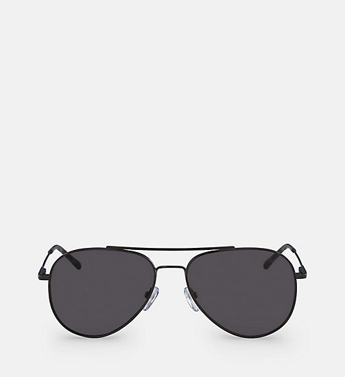 CALVINKLEIN Aviator Sunglasses CK18105S57 - GUNMETAL/SMOKE - CALVIN KLEIN SHOES & ACCESSORIES - main image