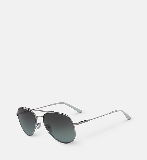 CALVINKLEIN Aviator Sunglasses CK18105S57 - SILVER & GREEN -  SUNGLASSES - detail image 1