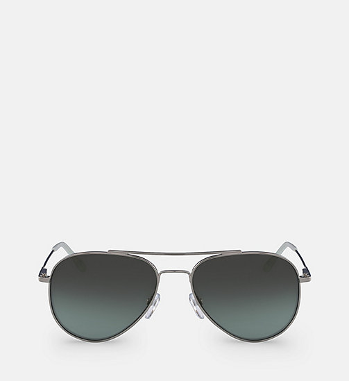 CALVINKLEIN Aviator Sunglasses CK18105S57 - SILVER & GREEN -  SUNGLASSES - main image