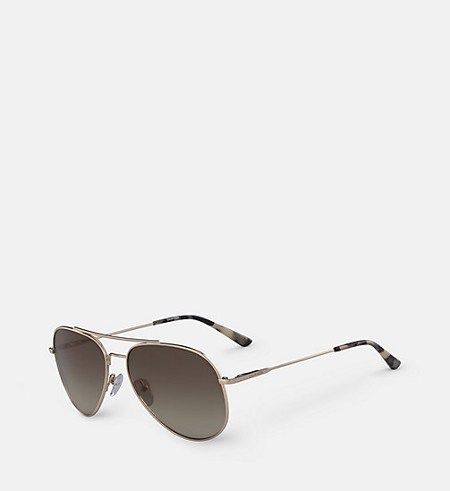 CALVINKLEIN Aviator Sunglasses CK18105S57 - GOLD/BROWN - CALVIN KLEIN SUNGLASSES - detail image 1