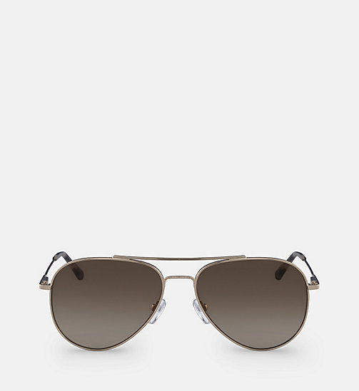 CALVINKLEIN Aviator Sunglasses CK18105S57 - GOLD/BROWN - CALVIN KLEIN SUNGLASSES - main image