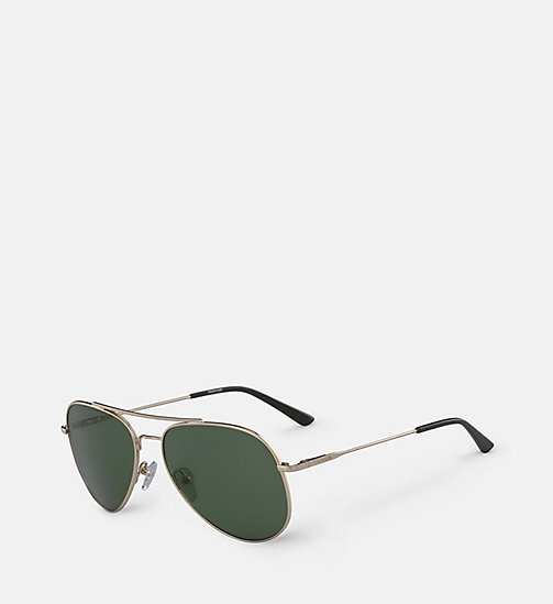 CALVINKLEIN Aviator Sunglasses CK18105S57 - GOLD/GREEN -  SHOES & ACCESSORIES - detail image 1