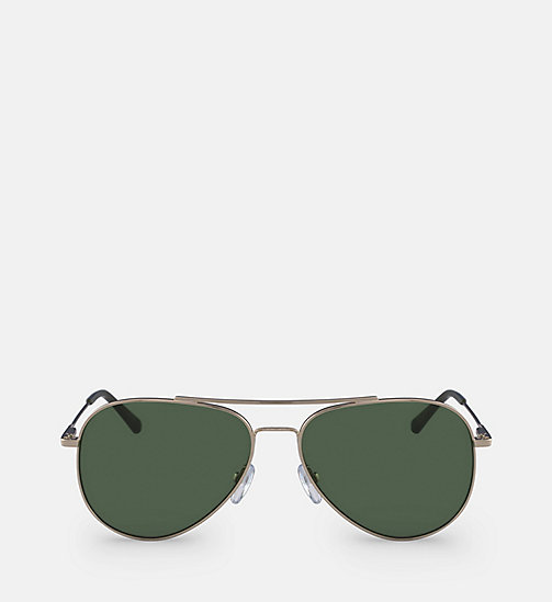 CALVINKLEIN Aviator Sunglasses CK18105S57 - GOLD/GREEN -  SHOES & ACCESSORIES - main image