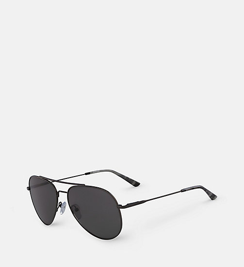 CALVINKLEIN Aviator Sunglasses CK18105S59 - GUNMETAL/SMOKE -  SUNGLASSES - detail image 1