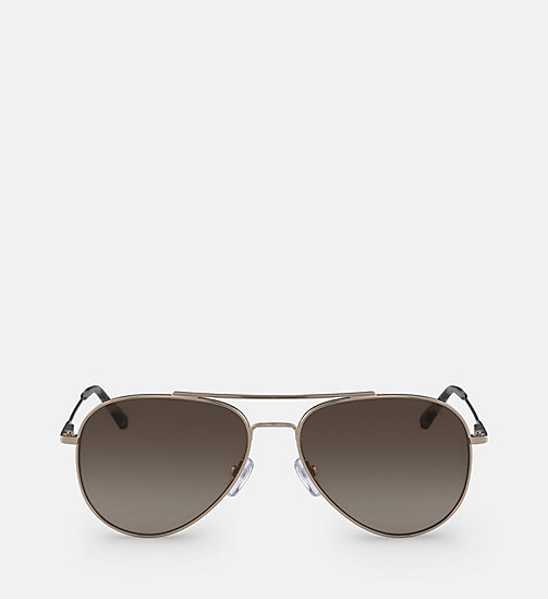 CALVIN KLEIN Aviator Sunglasses CK18105S59 - GOLD/BROWN - CALVIN KLEIN SUNGLASSES - main image
