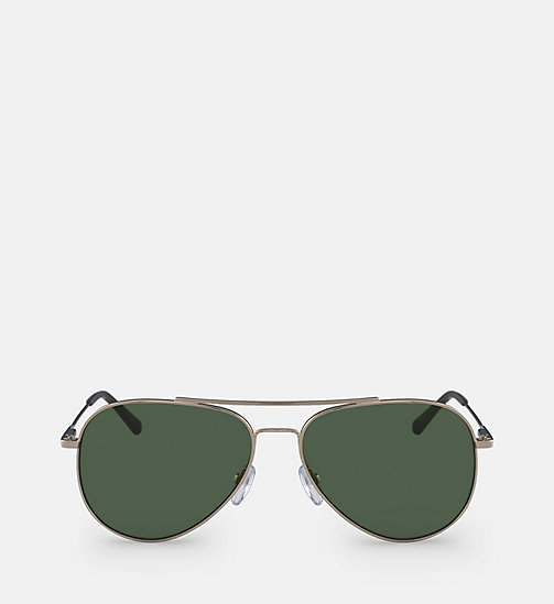 CALVINKLEIN Aviator Sunglasses CK18105S59 - GOLD/GREEN - CALVIN KLEIN SUNGLASSES - main image