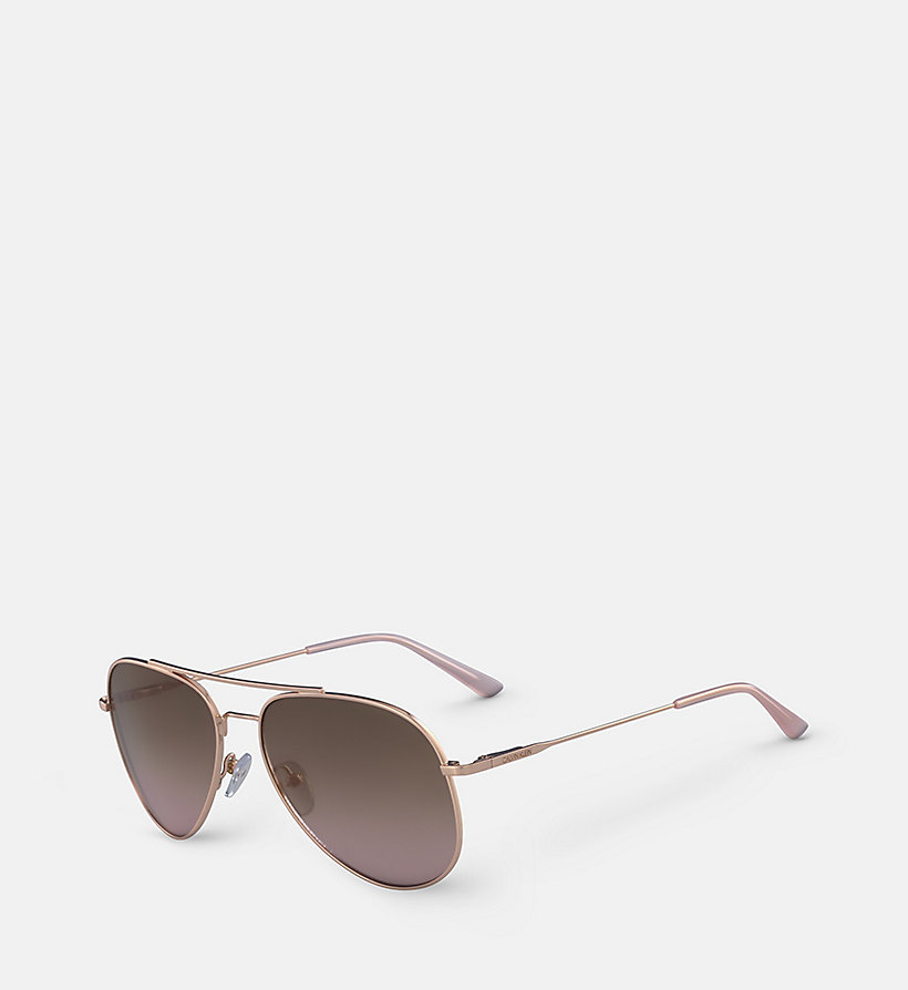 CALVINKLEIN Aviator Sunglasses CK18105S59 - GOLD/BROWN - CALVIN KLEIN WOMEN - detail image 1