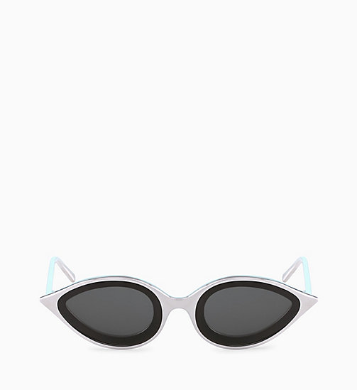 205W39NYC Cat Eye Sunglasses CKNYC1817S - SHINY SILVER - 205W39NYC EYEWEAR - detail image 1