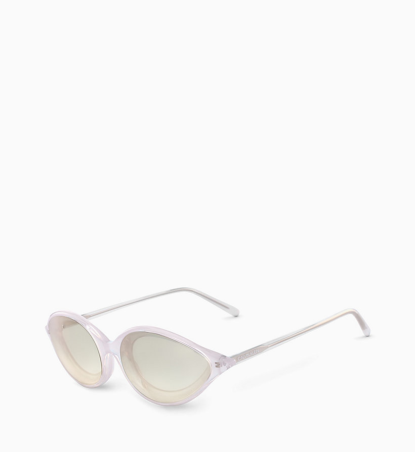 205W39NYC Cat Eye Sunglasses CKNYC1853S - CRYSTAL LIGHT GREEN - 205W39NYC WOMEN - detail image 1