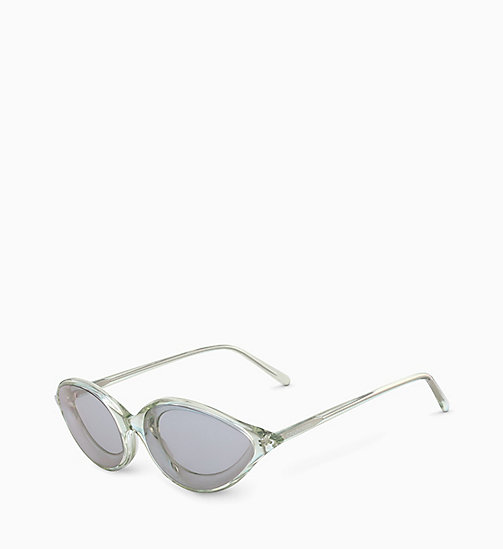 205W39NYC Cat Eye Sunglasses CKNYC1853S - CRYSTAL LIGHT GREEN - 205W39NYC EYEWEAR - detail image 1