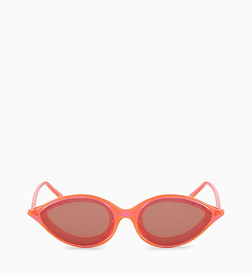 205W39NYC Cat Eye Sunglasses CKNYC1853S - CRYSTAL NEON ORANGE - 205W39NYC EYEWEAR - detail image 1