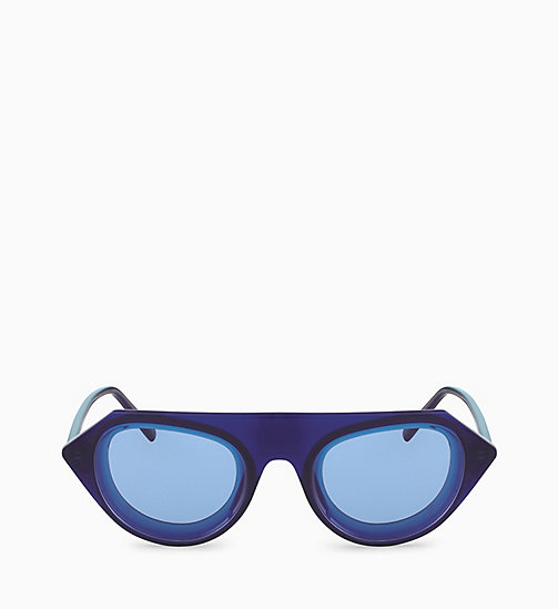 205W39NYC Rectangle Sunglasses CKNYC1854S - MILKY NAVY - 205W39NYC EYEWEAR - detail image 1