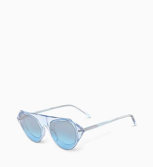 205W39NYC Rectangle Sunglasses CKNYC1854S - CRYSTAL LIGHT BLUE - 205W39NYC SUNGLASSES - detail image 1