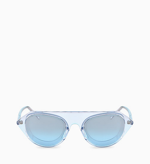 205W39NYC Rectangle Sunglasses CKNYC1854S - CRYSTAL LIGHT BLUE - 205W39NYC EYEWEAR - main image