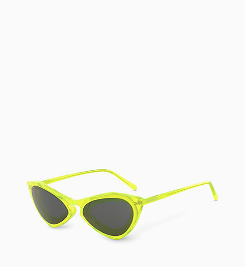 205W39NYC Cat Eye Sunglasses CKNYC1855S - CRYSTAL NEON YELLOW - 205W39NYC EYEWEAR - detail image 1