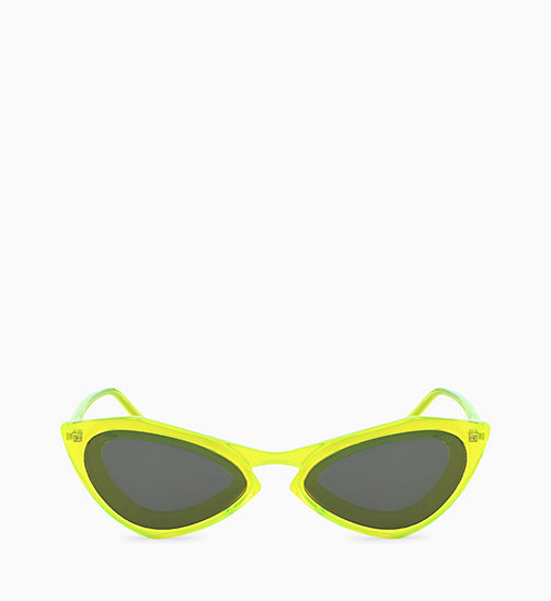 205W39NYC Cat Eye Sunglasses CKNYC1855S - CRYSTAL NEON YELLOW - 205W39NYC EYEWEAR - main image