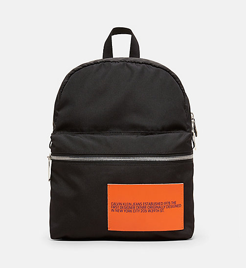 CALVINKLEIN Nylon Backpack - BLACK - CALVIN KLEIN MEN - main image