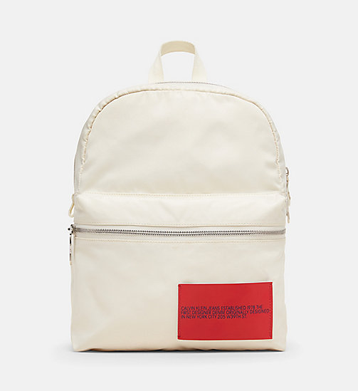 CALVINKLEIN Nylon Backpack - OFF WHITE - CALVIN KLEIN MEN - main image